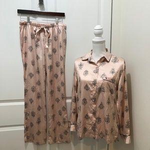 Victoria's Secret Satin PJ Set, Pink Chandeliers